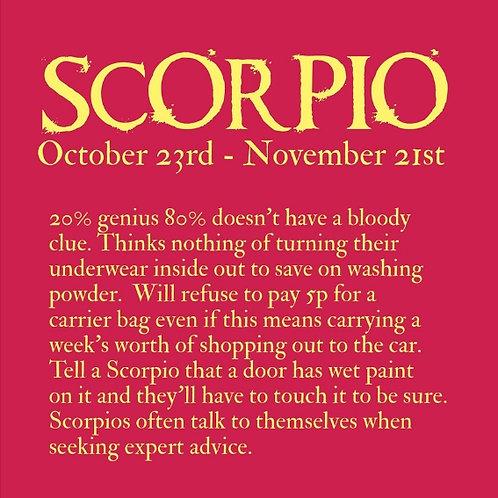 Scorpio Horoscope card