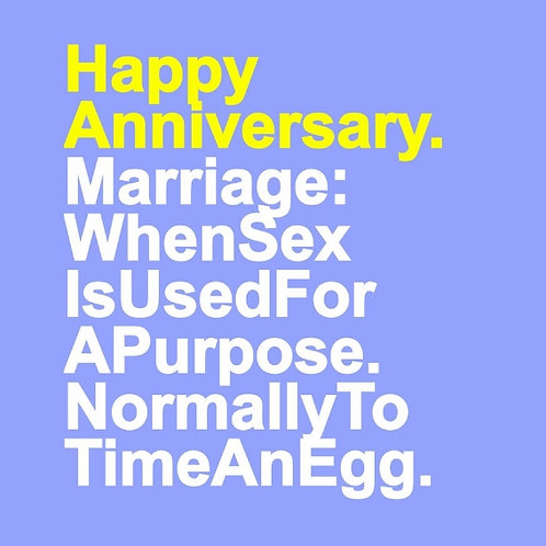 Marriage Egg card
