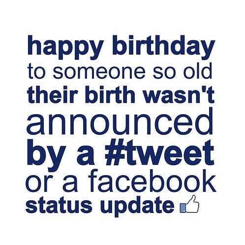 Facebook Tweet card