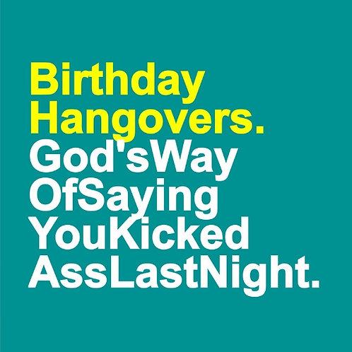 Kick Ass Hangover Nursing card