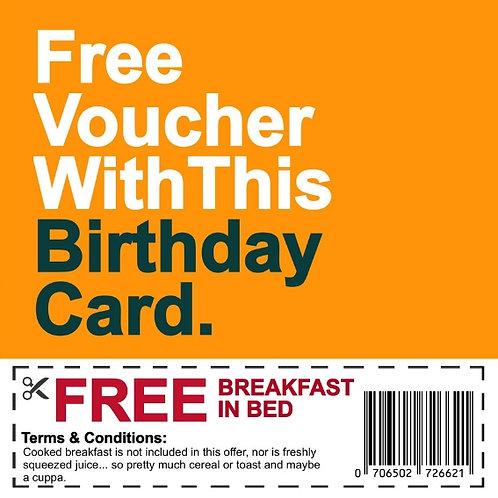 Birthday Breakfast Voucher card