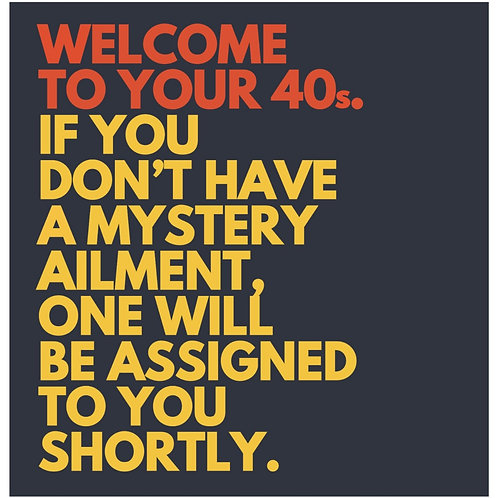 Welcome To Yours 40s card