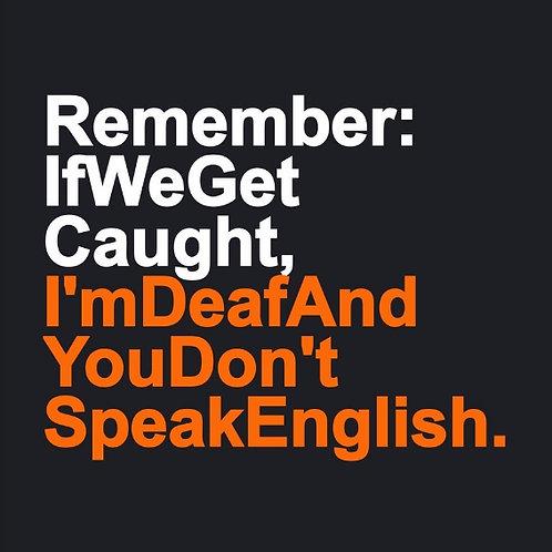 Deaf No English card