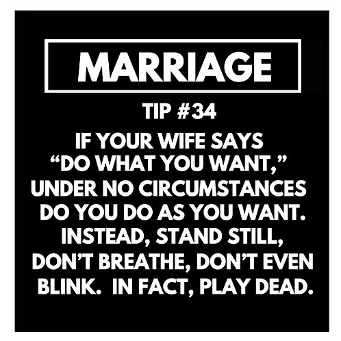 Marriage Tip#34 card