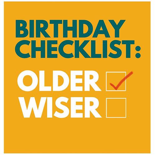 Birthday Checklist card
