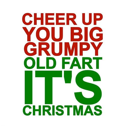 Christmas Grumpy Fart card