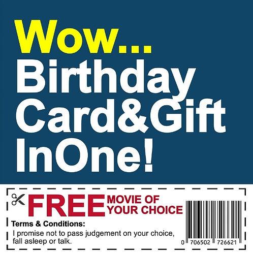 Birthday Movie Voucher card