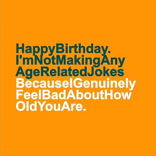Age Related Jokes card