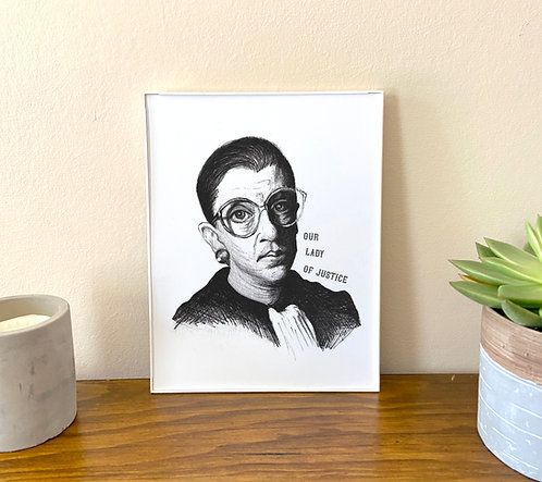 Our Lady of Justice // RBG Art Print