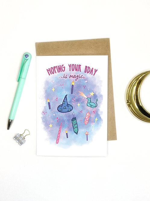 Magical Birthday // Witchy Birthday Greeting Card