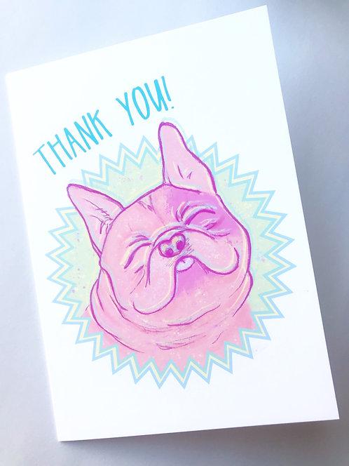 Thank You // Awkward Dog // French Bulldog Card