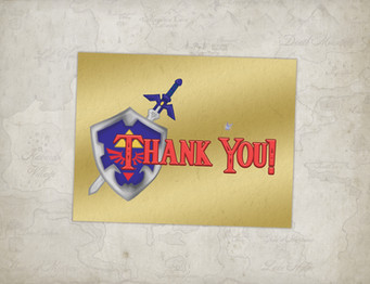 zelda thank you card