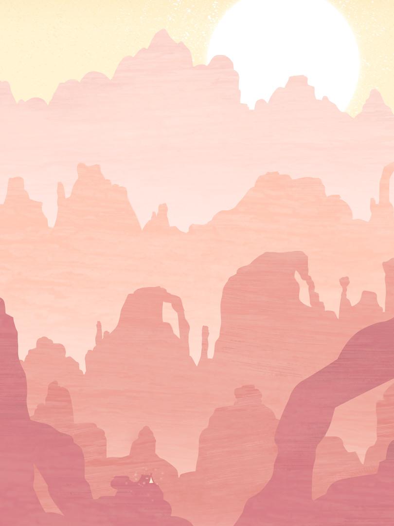 mountains golden