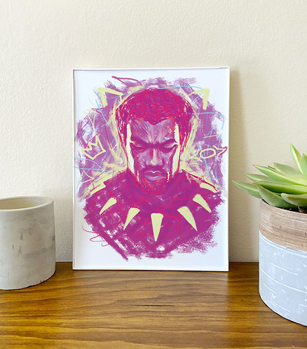 T'Challa King // Illustration Print // Black Panther Art