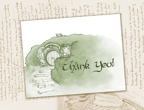 Lord of the Rings Thank You Card // Bag End Thank You // Instant Download File /