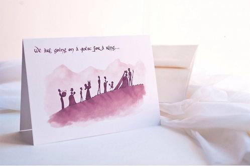 Nerdy Bridesmaid/ Groomsmen Invitation- Geek Wedding Cards/ Lord of the Rings- 5