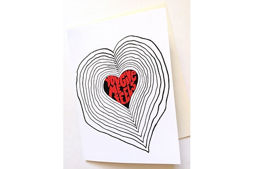 You Give Me Feels // Love Card // Valentine's Day Greeting Card //