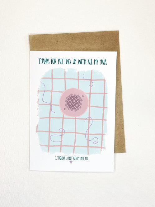 Hair Factor // Funny Greeting Card // Card for Partner // Humor Love Cards // Da