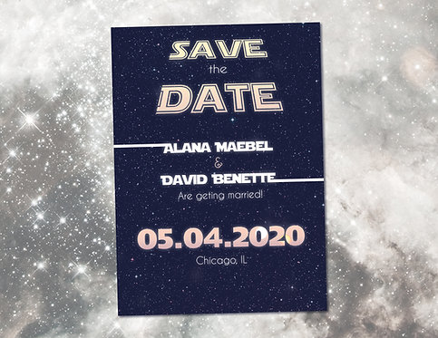 Star Wars Wedding Save the Date