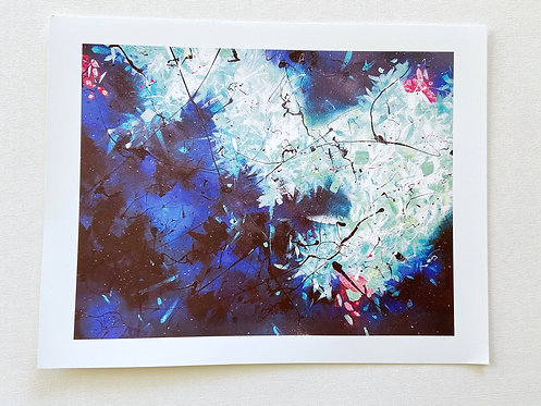 Limited Edition Fine Art Print // Blues Abstract Series, Tide