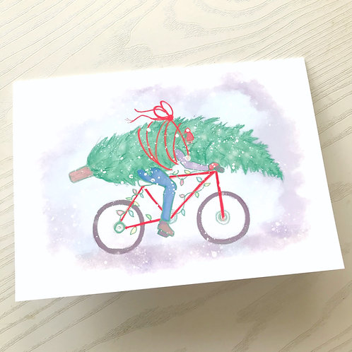 A Biker's Christmas // Fundraiser Holiday Card // Funny Urban Christmas