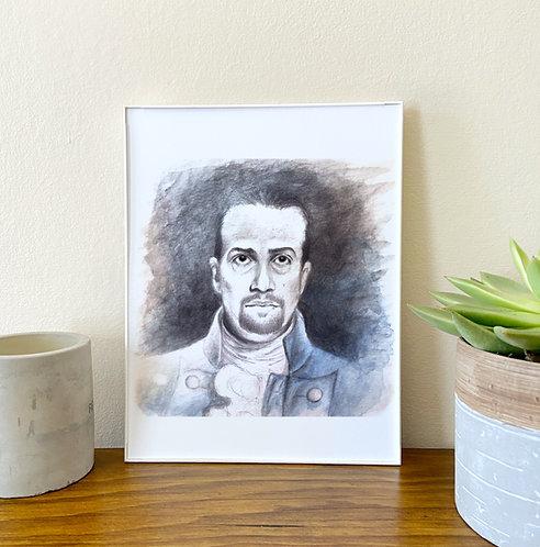 Hamilton Portrait // Home Decor // Alexander Hamilton