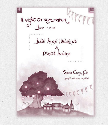 Lord of the Rings Save the date // Wedding Invite // DIY Printable/ nerdy/geeky