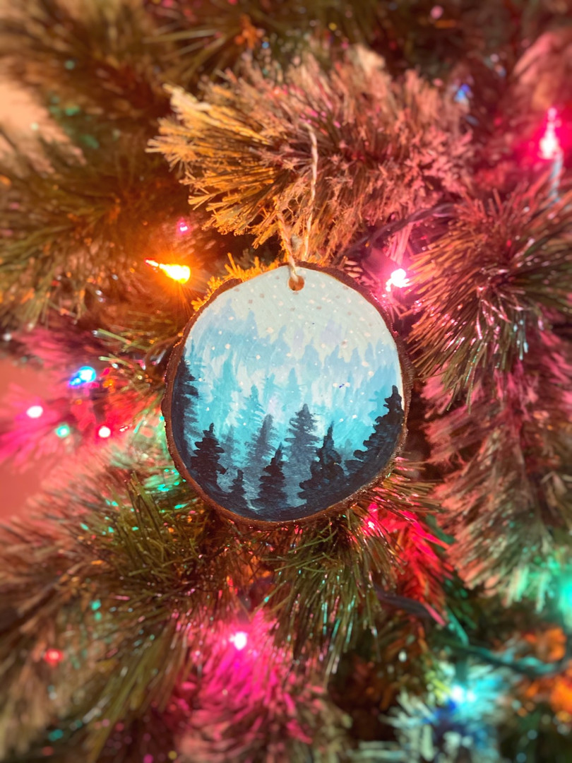 Painted Tree Ornament