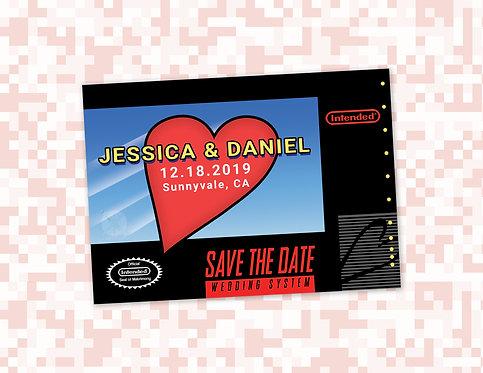 SNES Save the Date // Super Nintendo Invitations // Gamer/ Geek Wedding