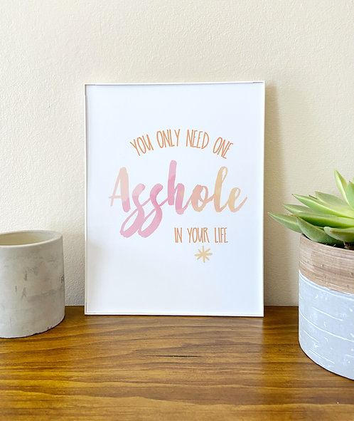Born With It // Funny Home Decor // Office art // Typography
