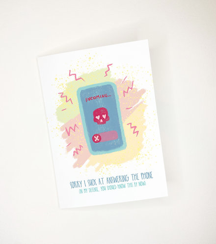Answering the Phone // Funny Anytime Card // Hate the Phone