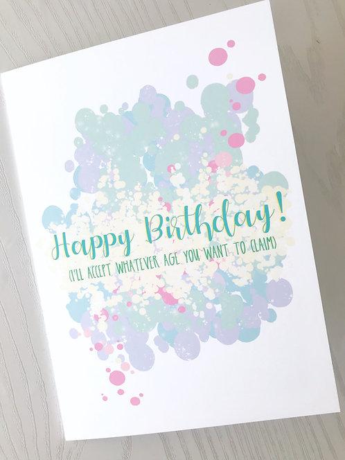 Sarcastic Happy Birthday Card // BFF Birthday // Getting Old // Funny Bday Cards
