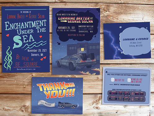 Back to the Future Wedding Invitation Deluxe Suite