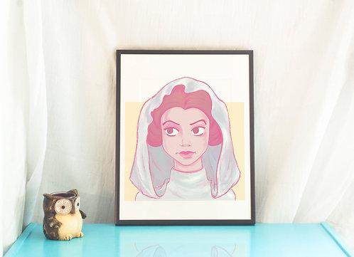 The Ambassador, Princess Leia Illustration // Art Print