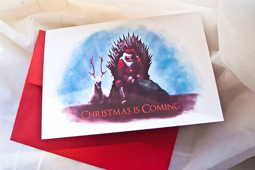 Christmas is Coming // Game of Thrones Christmas Card / Funny Christmas / Holida