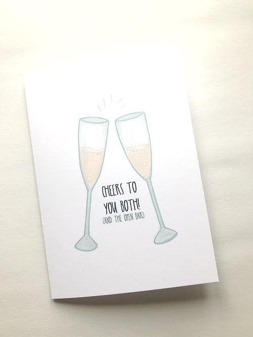 Cheers Wedding Card // Funny Card for Weddings // Friend Wedding Card //