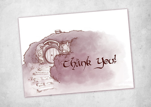 Lord of the Rings Thank You Card (Purple) / Bag End Thank You // Instant Downloa