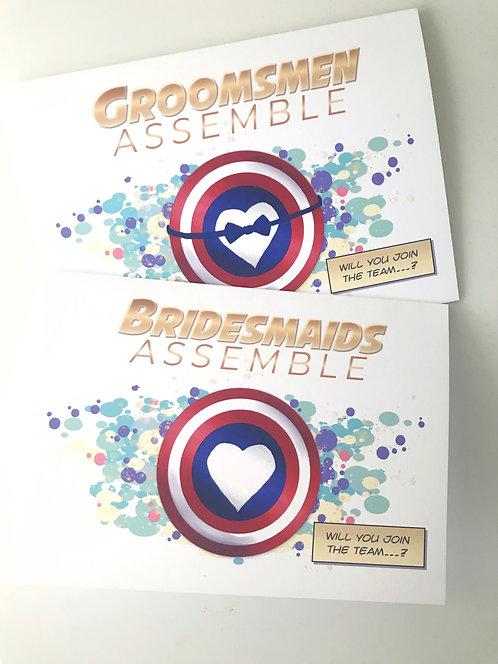 Comic Book Wedding Party Invitation // Avengers Card // Groomsmen / Bridesmaid