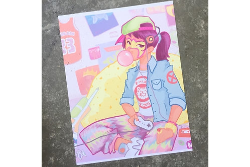 Hella 90's // 1990s Art Print // Nostalgia Poster