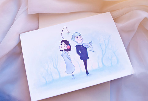 Mistletoe // Romantic Christmas // Season's Greetings / Winter Holiday Card