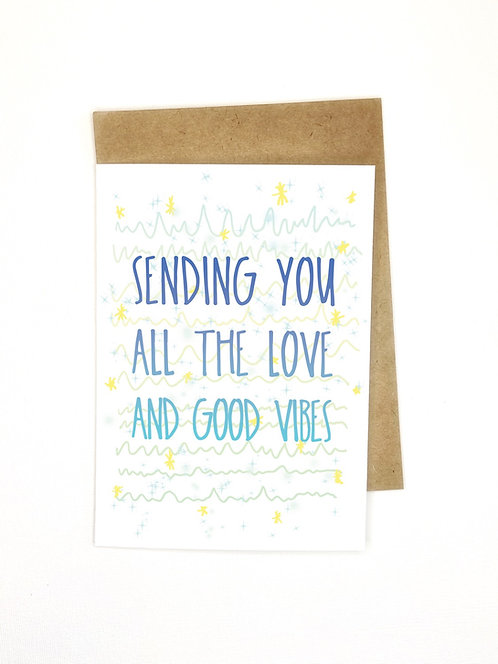Sending Good Vibes // Good Luck // Well Wishes // Support Card
