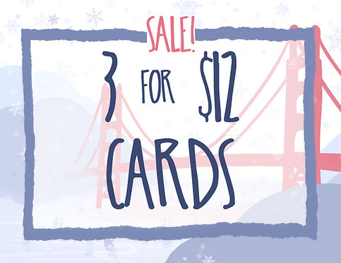 SALE 3 for 12 Greeting Card Pack // Sarcastic Cards // Holiday Card Pack