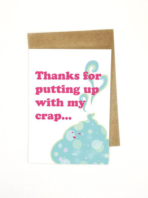 Funny Thank You Card- // Thank You Card- Card for Friend/