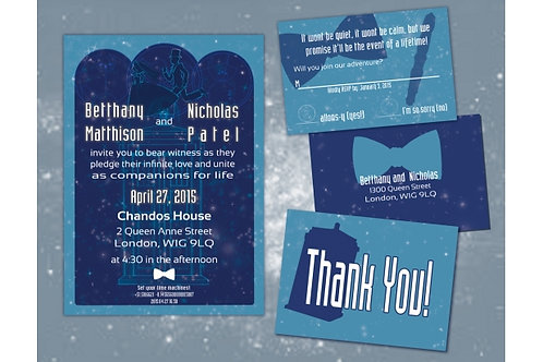 Doctor Who Wedding Invitation Suite // DIY Digital Printable Wedding Invitations