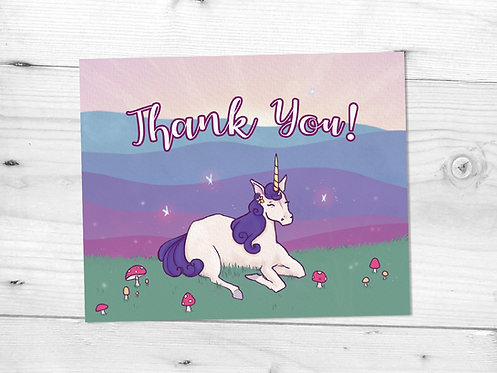 Unicorn Thank You Card File // Whimsical Thank You // Kids Party Thank You