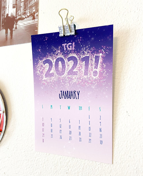 Mini 2021 Calendar Pack // Desktop Calendar // At a Glance Calendar