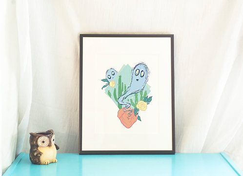 Desert Ghosts // Illustration Art Print // Home Decor