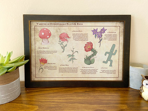 Varieties of Otherworldly Plants and Fungi // Video Game Art // Geeky Home
