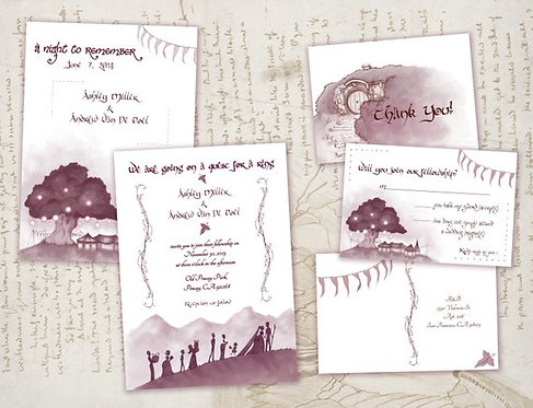 *Bulk Special* Lord of the Rings Digital Save the Date & Formal Invitation Set