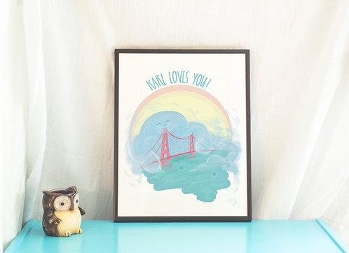 Karl the Fog // San Francisco Illustration Print